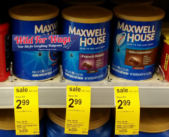Start your day off right by saving on a cup of Maxwell House coffee. Use these manufacturer coupons to save on ground coffee, single serve coffee pods (available as K-Cups or Tassimo Discs,) instant coffee and more. Enjoy high quality coffee every morning, caffeinated or decaffeinated, flavored or unflavored.