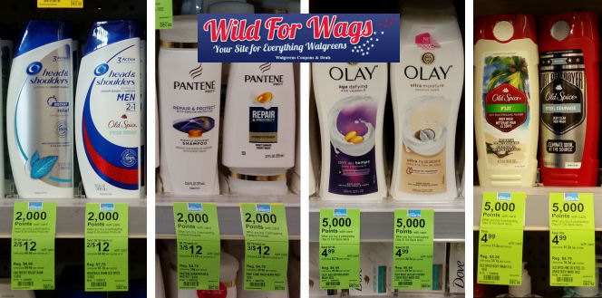 pantene head & shoulders olay old spice deals