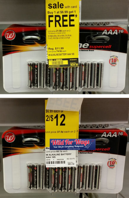 w alkaline batteries sale