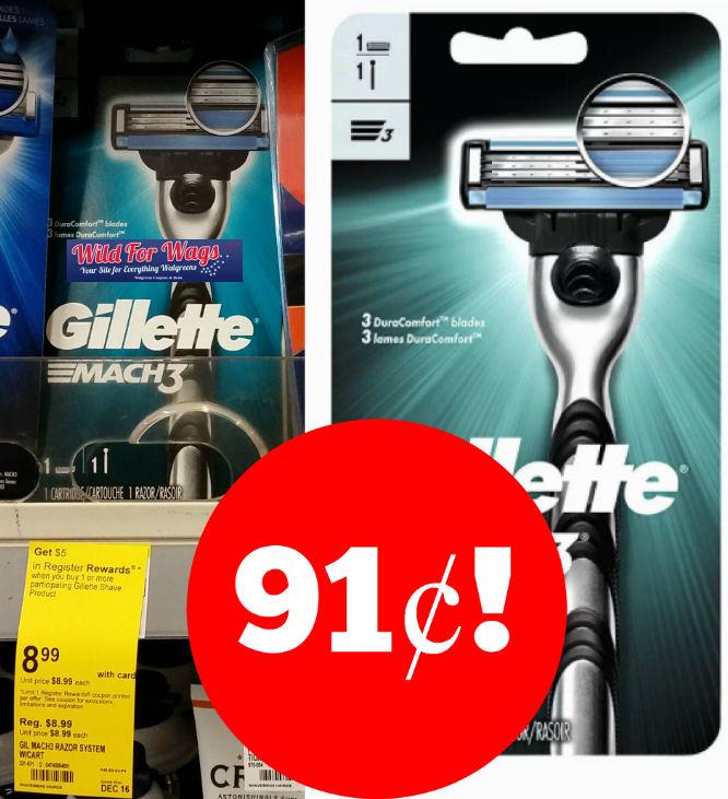 gillette mach razor deals