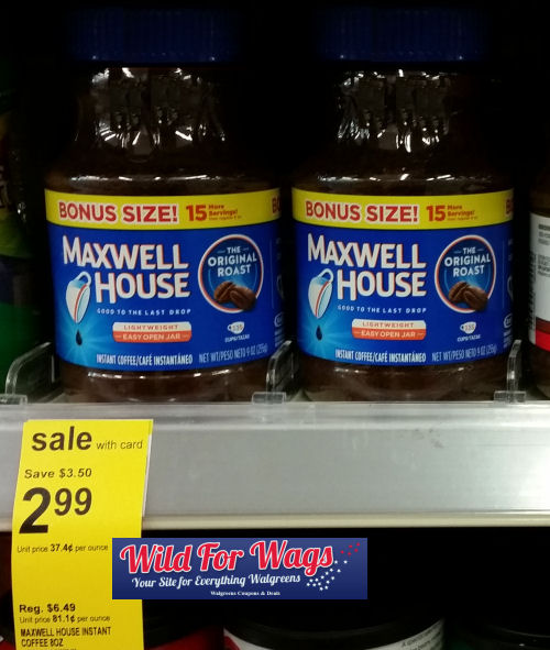 maxwell house deals