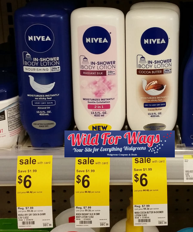 nivea in shower lotions