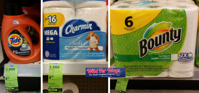 charmin, tide & bounty deal