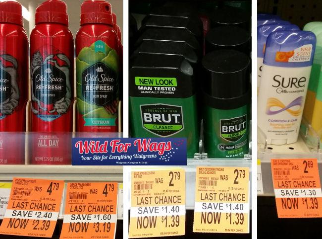 deodorant clearance deals