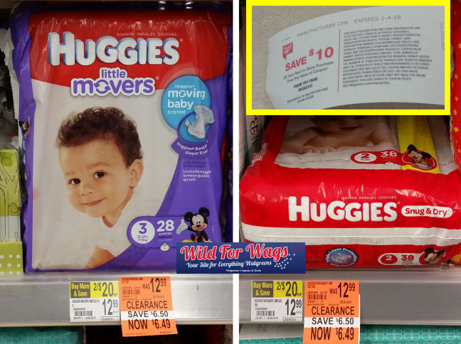 huggies clearance deals