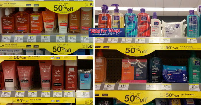 neutrogena clean & clear deals
