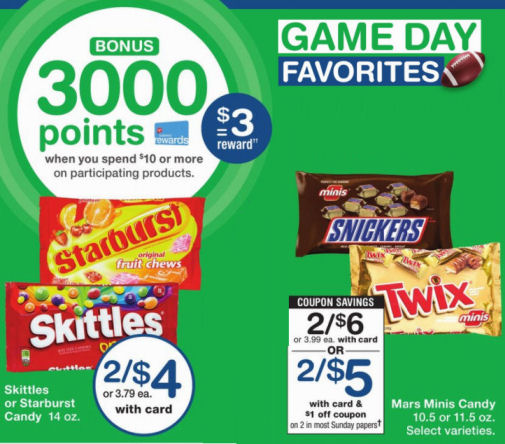 skittle snd snickers deal