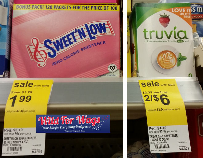 sweet 'n low and truvia deals