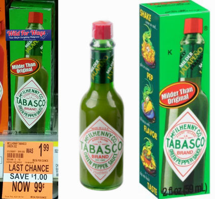 tabasco saucer clearance deal