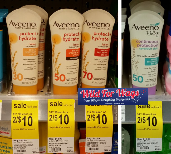 aveeno sun care deal