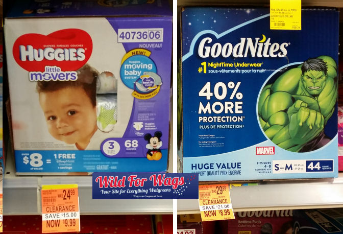 huggies and goodnites clearance deal