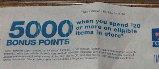 5000 pts catalina coupon