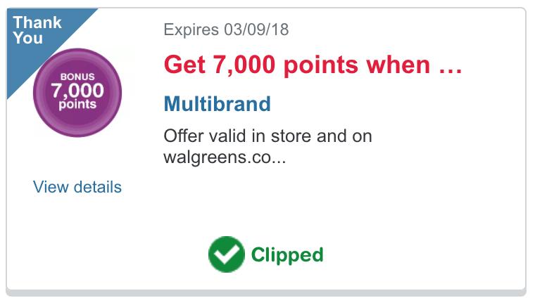 Walgreens Bonus Coupon