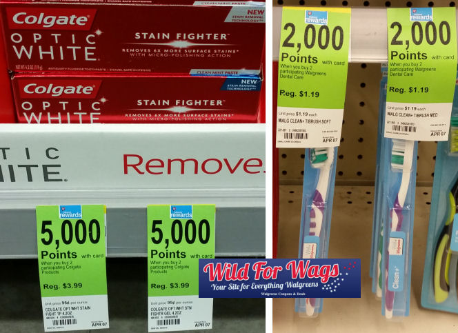 colgate optic white and well At walgreens toothbrushes deal