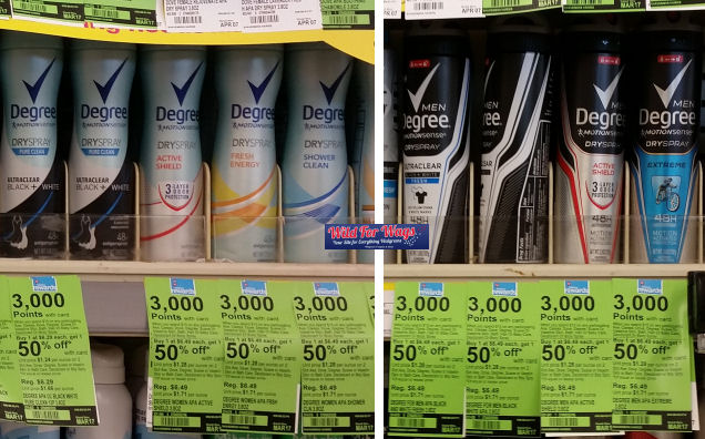 degree men dry spray deals