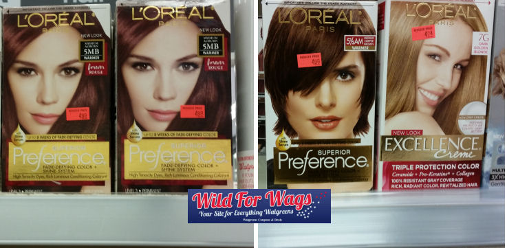 loreal preferemce and excellence clearance deals