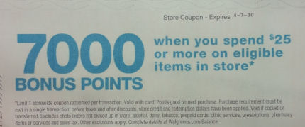 7000 points coupon