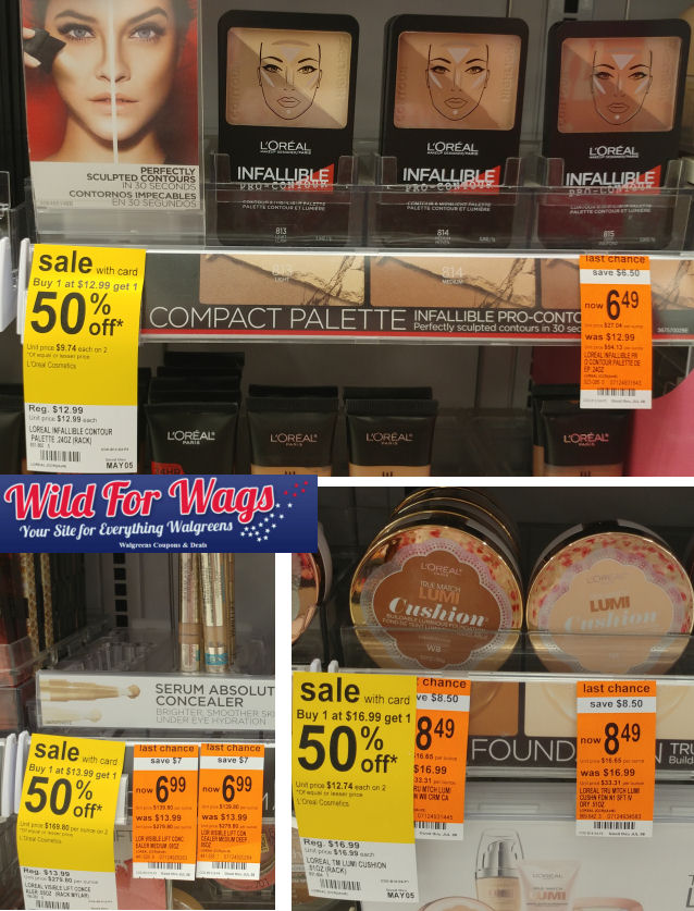 loreal face clearance
