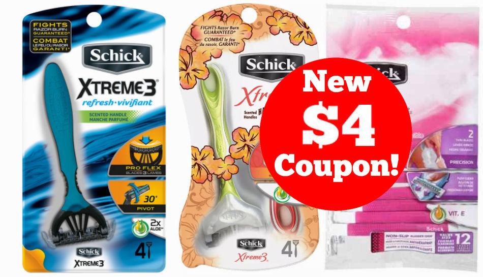 schick razor couponl