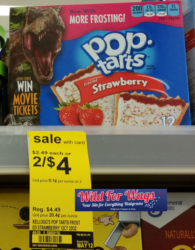 Kellogg's pop tarts 12 pk deal