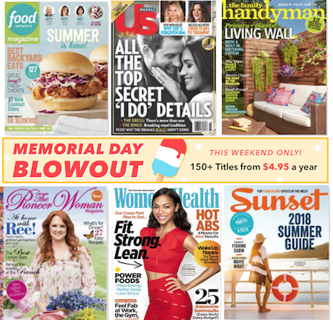 Memorial Day Magazine Sale