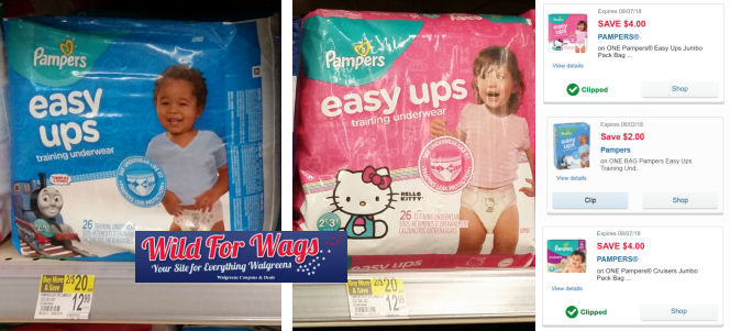 pampers easy ups deals