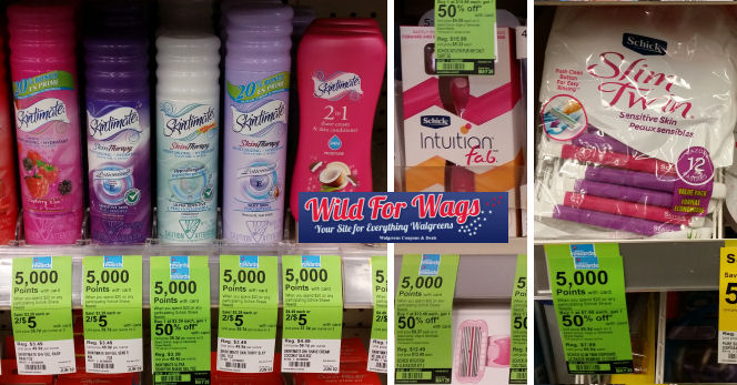 skintimate and schick deals