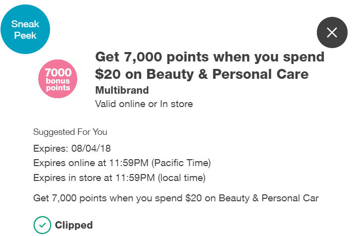 7000 Bonus points coupon