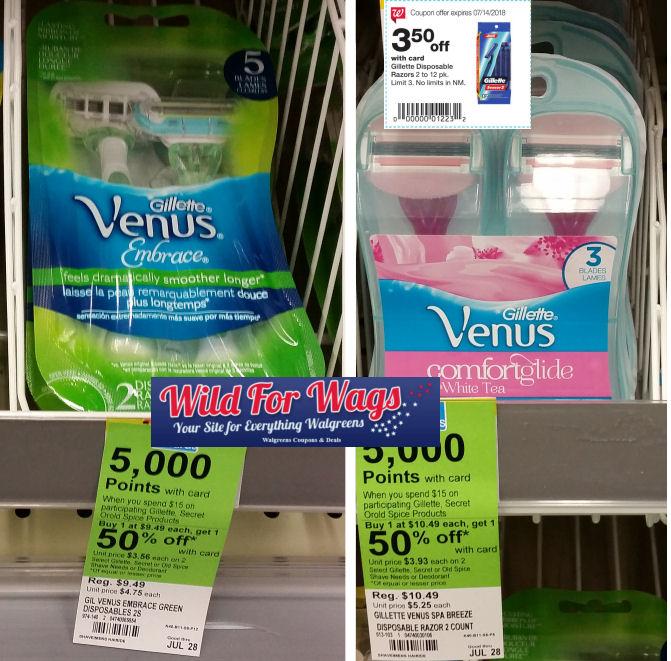 gillette venus razor deals