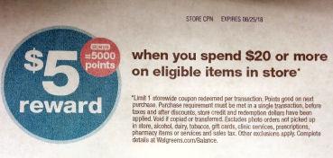 5000 pts sunday catalina coupon-
