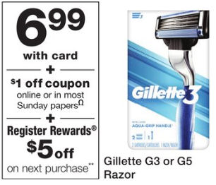 gillette g3 deals