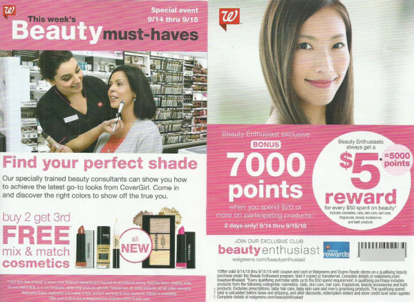 beauty points booster leaflet coupon