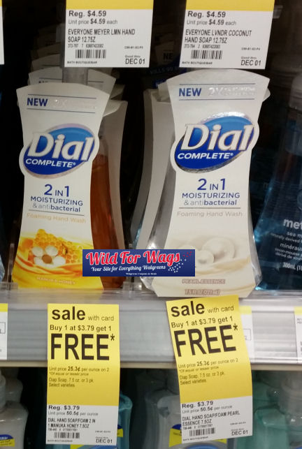 Dial foaming hand soap deal