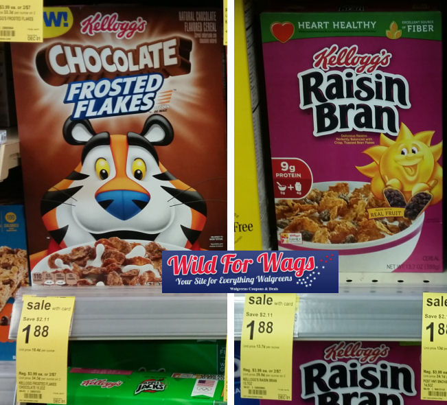kellogg's frosted flakes and raisin bran deals