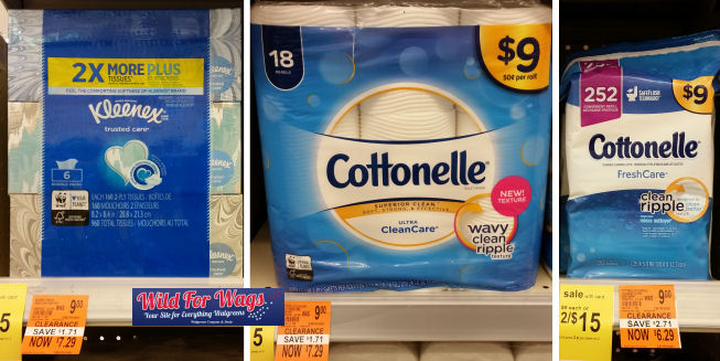 cottonelle and kleenex clearance