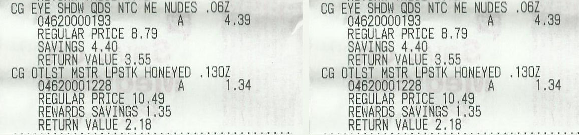 covergirl receipts