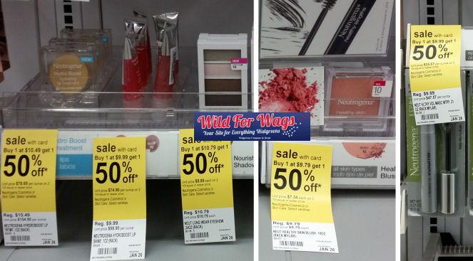 neutrogena cosmetics deals