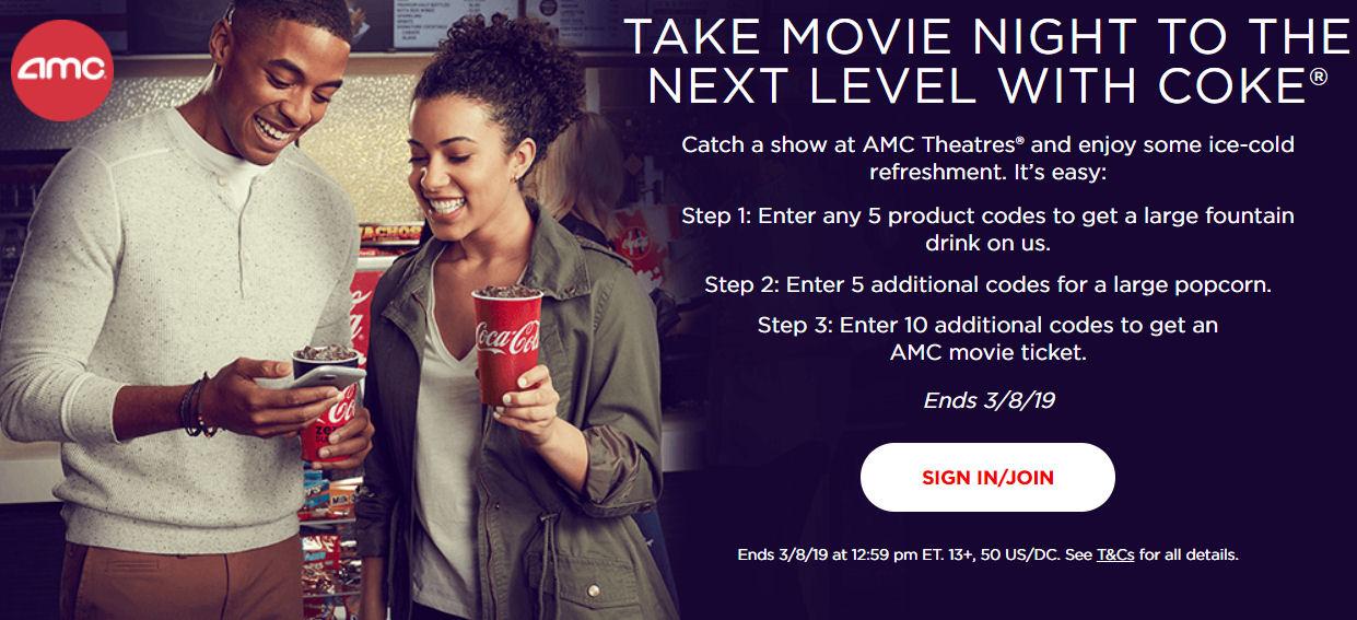 amc offer coke rewards