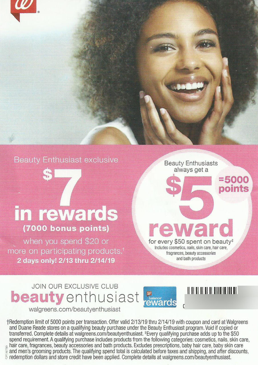 beauty booster points coupon leaflet