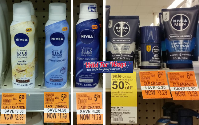 nivea clearance deals