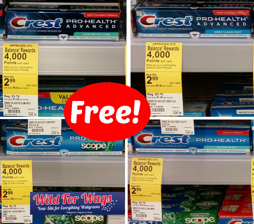 Another Great Crest Deal – Free Toothpaste!
