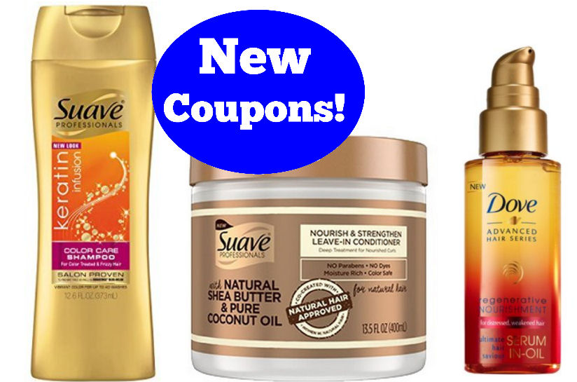 New Suave And Dove Hair Care Coupons